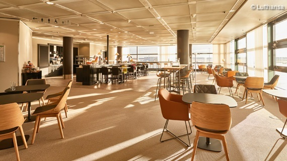Neue Panorama Lounge operated by Lufthansa Frankfurt Airport